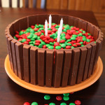 M&M Kit Kat Cake 2