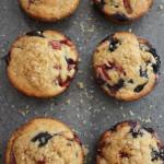 Berry bananna jumbo muffins