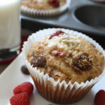 Dark Chocolate Chip Raspberry Banana Jumbo Muffin