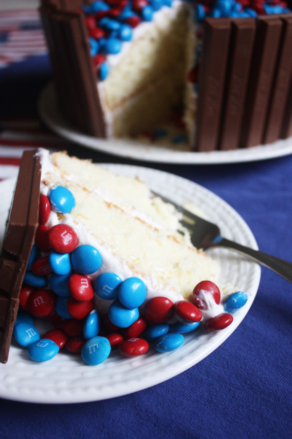 fourth of july cake piece