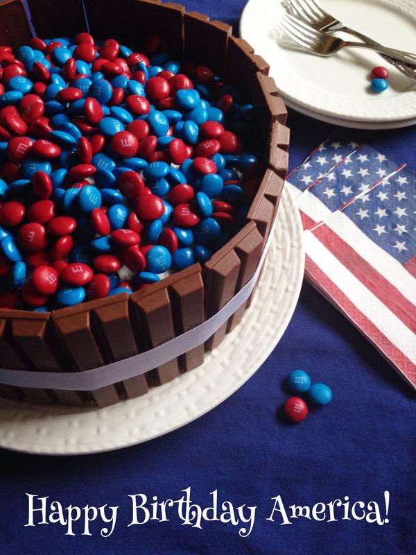 M&M Kit Kat Cake