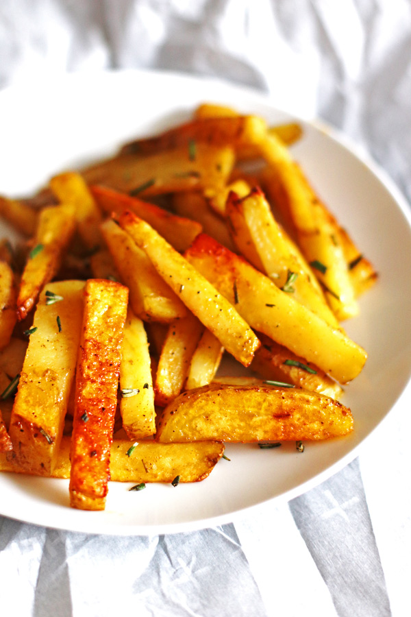 These Baked French Fries are perfectly seasoned and so easy to make. Recipe at https://jeanniestriedandtruerecipes.com/baked-french-fries/