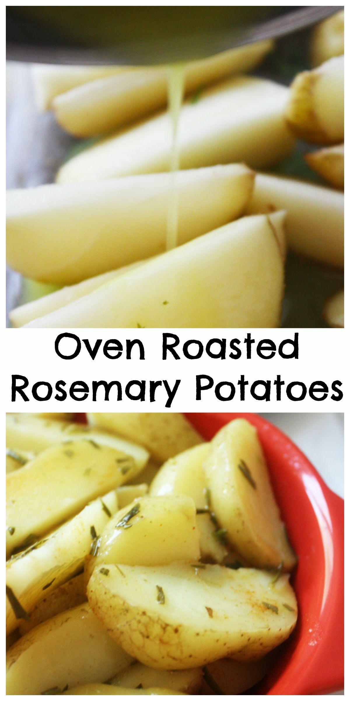 oven roasted rosemary potatoes pin