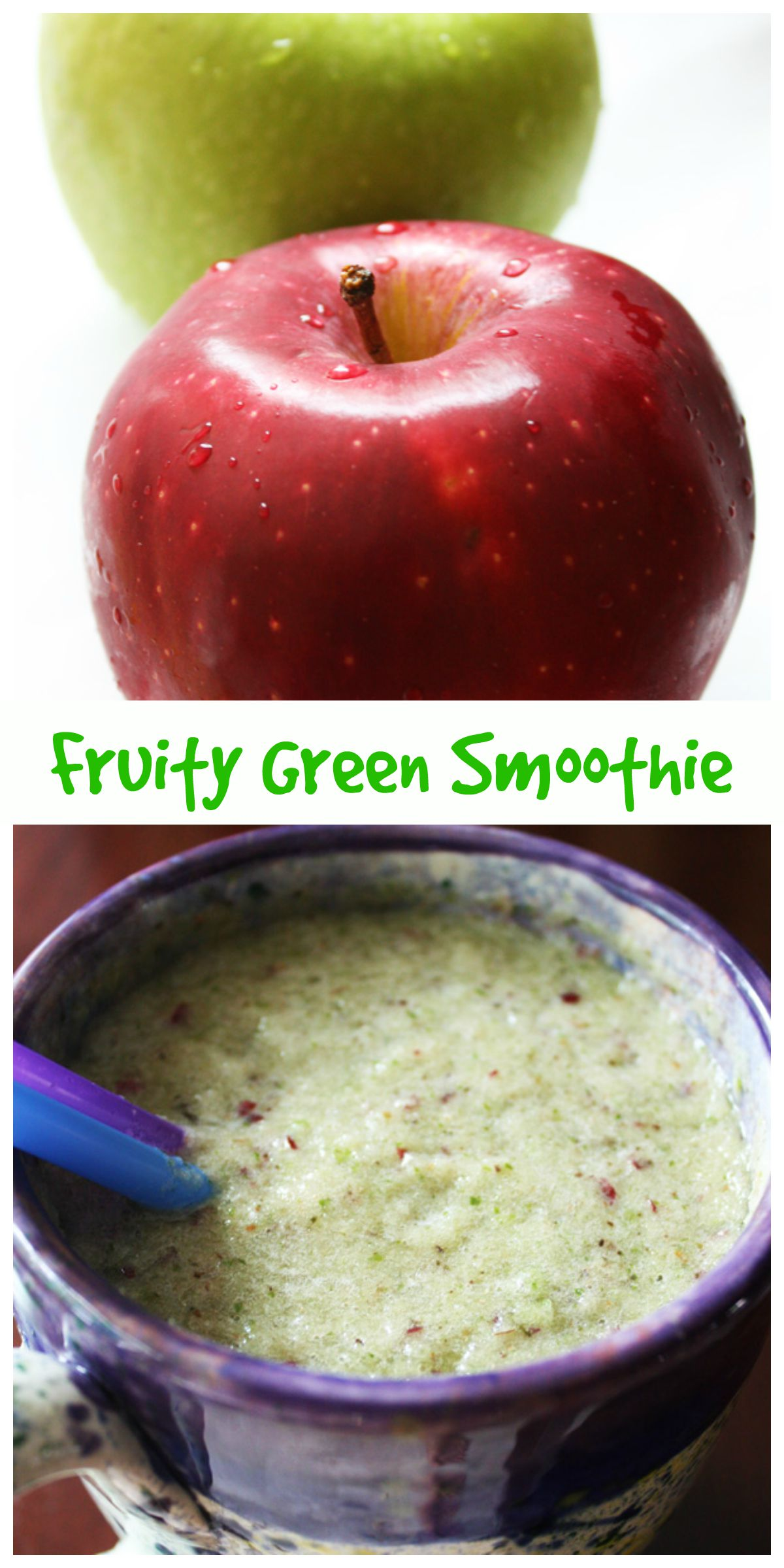 Fruity Green Smoothie Collage