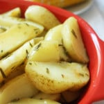 oven roasted rosemary potatoes serving