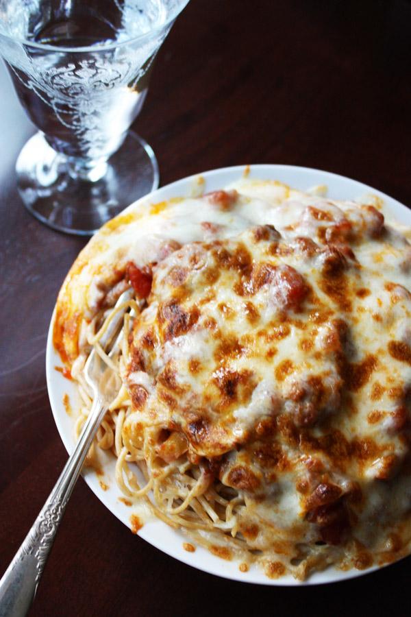 spaghetti parmesan