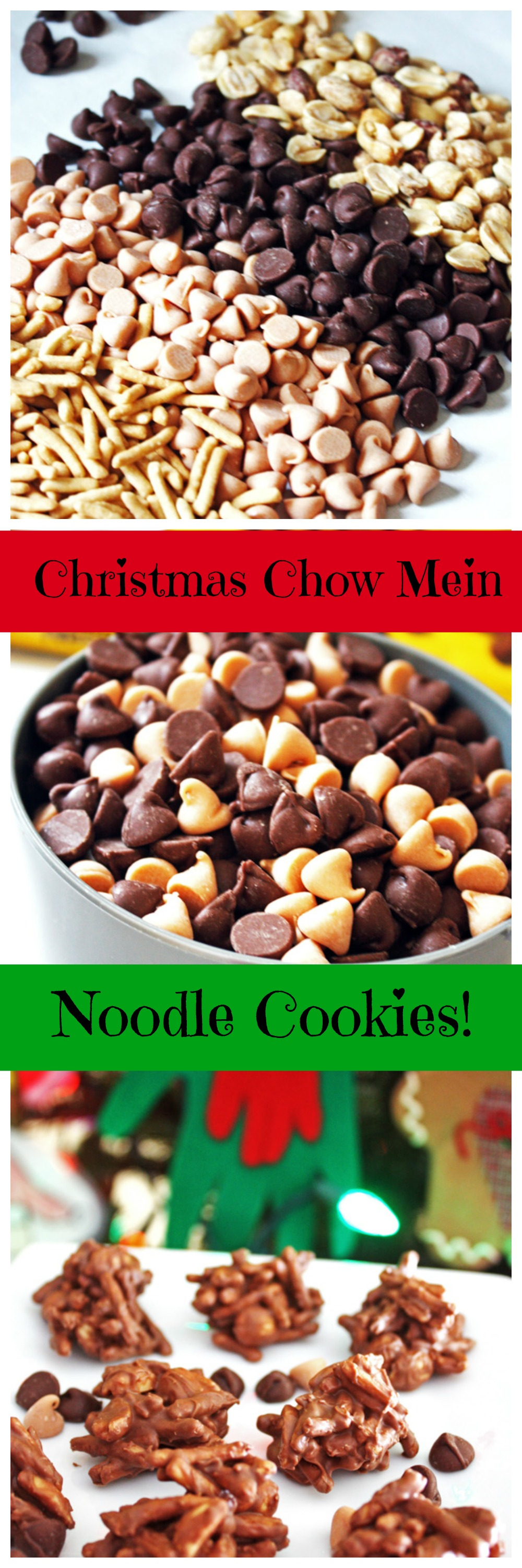 christmas chow mein noodle cookies