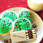 elf donuts with cookies