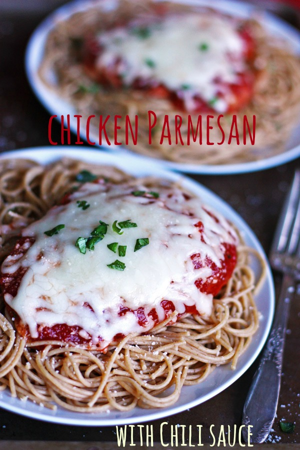 Chicken Parmesan with Chili Sauce