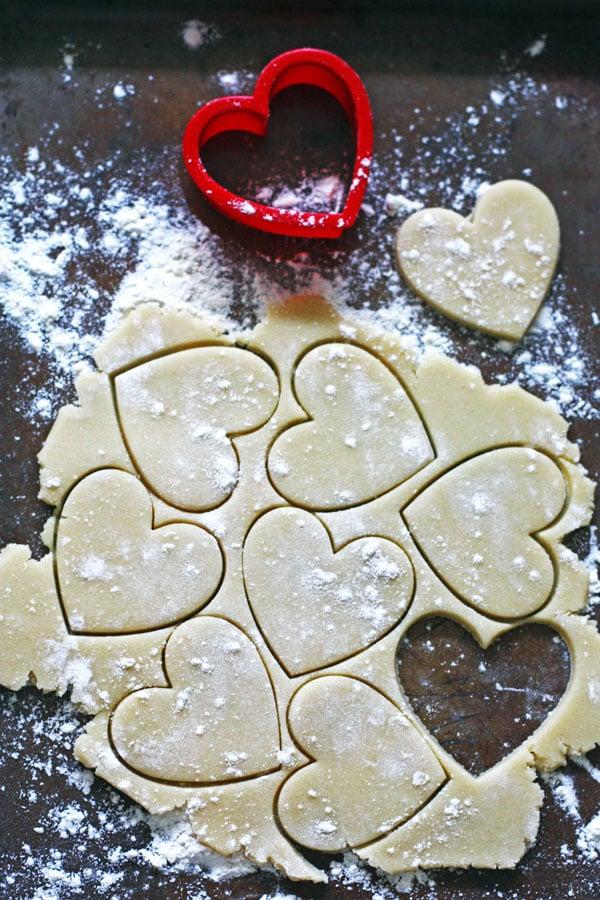 Heart Sugar Cookie Dough