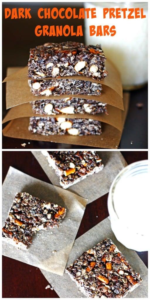 Dark Chocoalte Pretzel Granola Bars