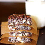 These Dark Chocolate Pretzel Granola Bars make a great afternoon snack.