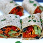 Vegetable Hummus Wraps ~ a delicious light vegetarian dinner or lunch