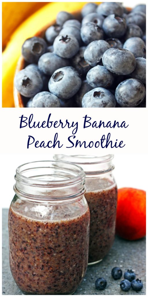 Blueberry Banana Peach Smoothie