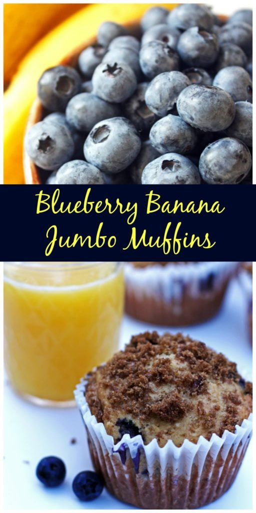 Blueberry Banana Jumbo Muffins