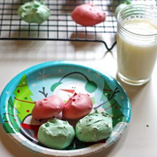Christmas Meringue Cookies