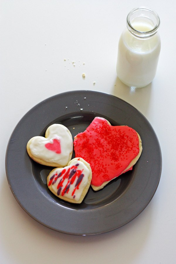 Valentines Day Cut Out Cookies