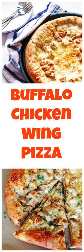 Buffalo Chicken Wing Pizza, pizza, recipe, dinner