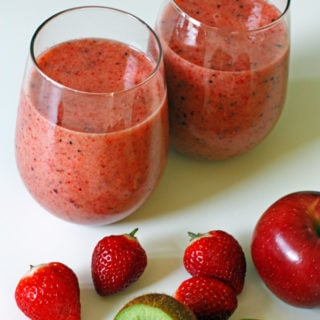 Strawberry Apple Kiwi Smoothie