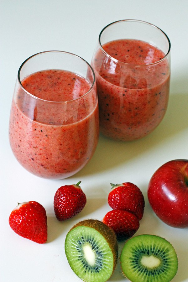 Strawberry Kiwi Apple Smoothie