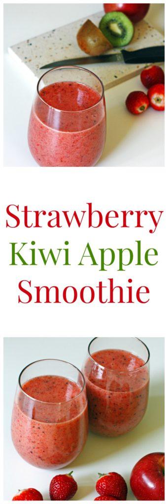 Strawberry Kiwi Apple Smoothie