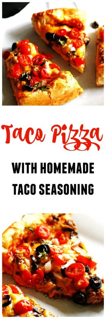 This recipe for Taco Pizza puts two favorites together...tacos and pizza.