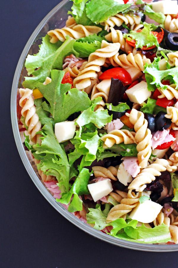 Antipasto, Pasta, Salad, Delicious, Dinner