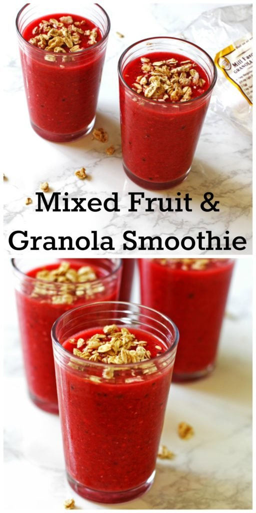 Mixed Fruit and Granola Smoothie