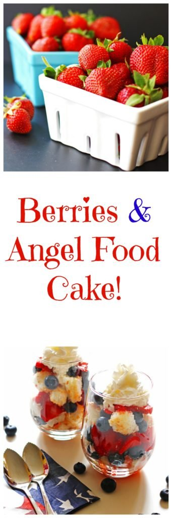 Berries, Angel Food Cake, Dessert, Fourth of July