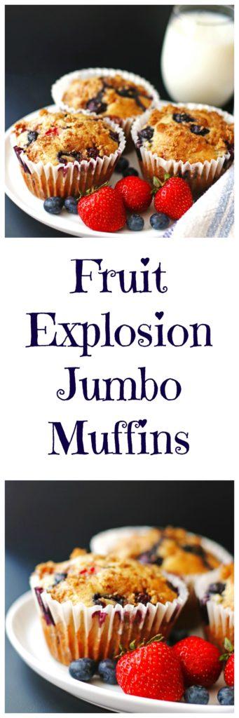fruit, muffins, berries