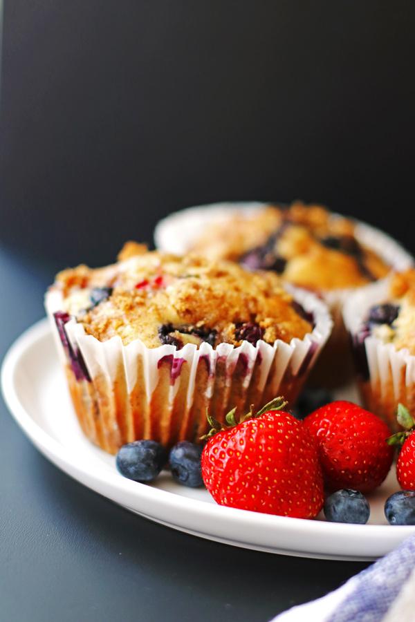 fruit, berries, mufffins
