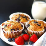 Fruit, Jumbo Muffins, Muffins