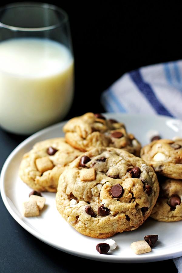 Jumbo S'mores Cookies