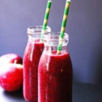 This Apple Berry Smoothie is a great healthy snack.