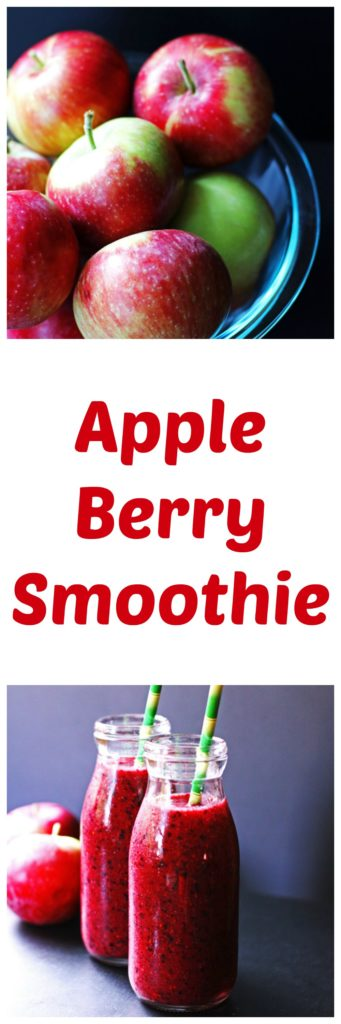apple, berry, smoothie