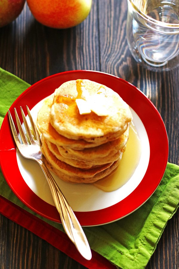Apple Cinnamon Pancakes on a plate