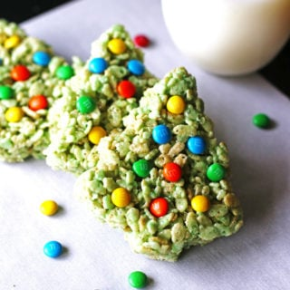 Rice Krispie Treat Christmas Trees