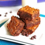 These Ultimate Chocolate Brownies are delicious and easy to make. And there is a great April Fools Day joke too!)