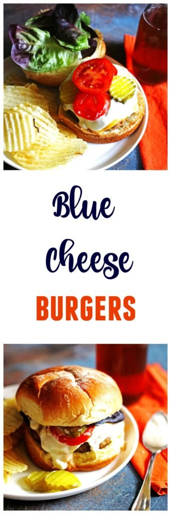 These Blue Cheese Burgers are so tasty and perfect for grilling season.