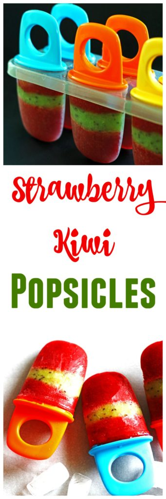 These Strawberry Kiwi Popsicles are easy to make and are delicious.