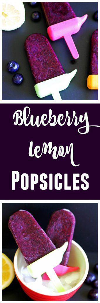 Blueberry Lemon Popsicles are easy to make and nutritious.