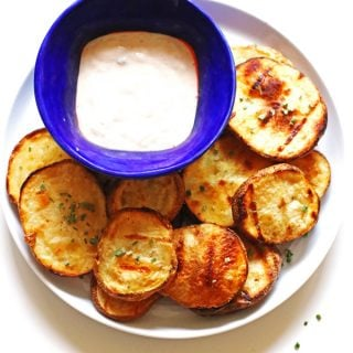 Blue Cheese Grilled Potatoes